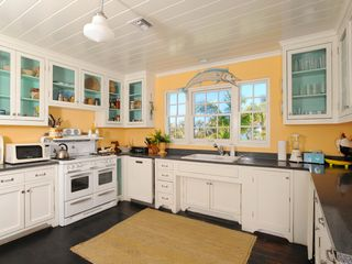 Double Bay estate photo - All-new vintage-style kitchen with top-of-the-line appliances and ocean views