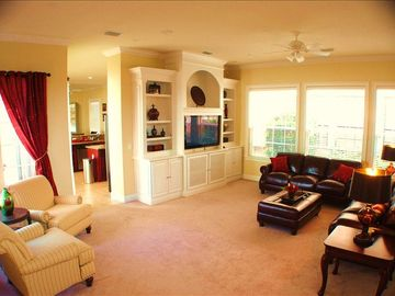 Family Area with large state of the art flat screen TV