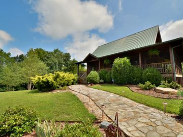 Yadkinville cabin rental - 10 acres of beautiful landscaped property. Welcome to Persimmon Grove Retreat