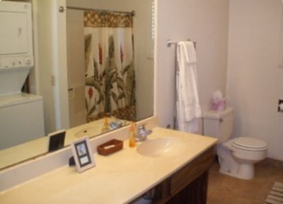 2nd Bathrm w/WASHER/DRYER. Both bathrooms are tiled and spacious.