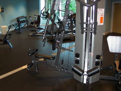 You can enjoy our nice exercise room down stairs.
