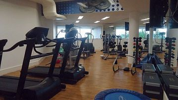 Gym inside the complex