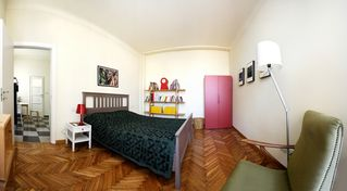 Milan apartment photo - sleeping room with queen bed and balcony