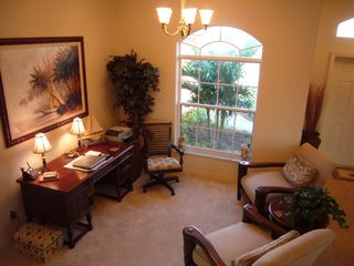 Cape Coral house photo - Comfortable sitting area; desk, wireless, printer