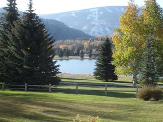 Avon condo photo - view of lake and Beaver Creek-fall