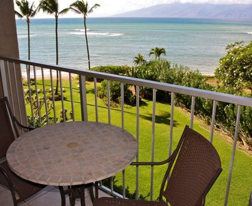 Whale watching, during season, from your private balcony overlooking Molokai