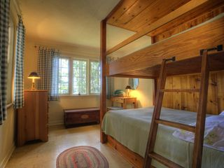 Traverse City cabin photo - Full size bunks in bunkhouse.