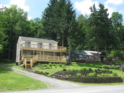 Sunny and Spacious Lakefront Home with private dock on Bradley Brook Reservoir