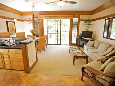 Koloa condo rental - CONVERTIBLE SOFA BED, STEREO W/CD AND FLAT SCREEN TV,WIFI AVAILABLE AT NO CHARGE