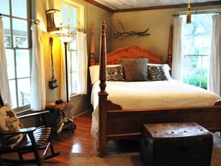 New Braunfels estate photo - King Sized Bed in Welsch's Corner - Bedroom 2 in Main House