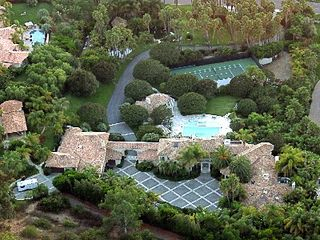 Rancho Santa Fe estate photo - Main and Guest Homes, Art Studio (left), Gym (right), Pool House, Palapa, Tennis