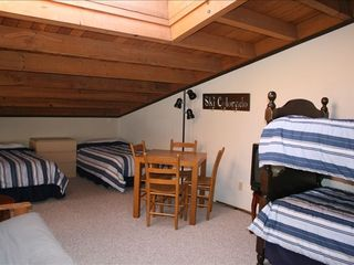 Silverthorne condo photo - Roomy loft with four twin beds and skylight .