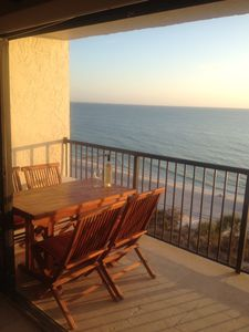 Madeira Beach condo rental - Teak furniture on the Balcony