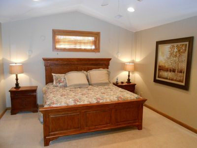 Upstairs master...king bed, vaulted ceilings