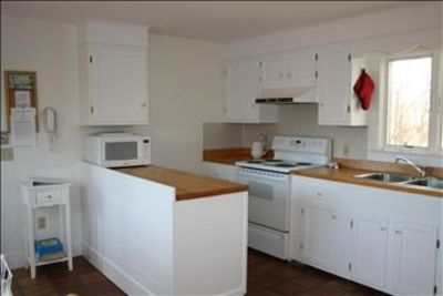 Kitchen is fully equipped with lots of counter space for cooking and entertaining.