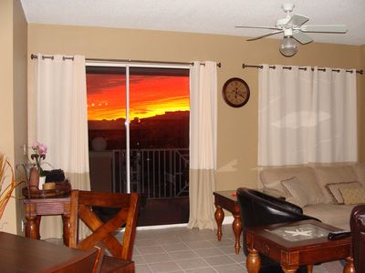 sunrise from the condo living room