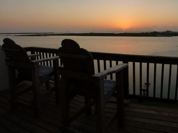 Corpus Christi condo rental - Sunset from the main deck & living room or master bedroom deck. Its the best!