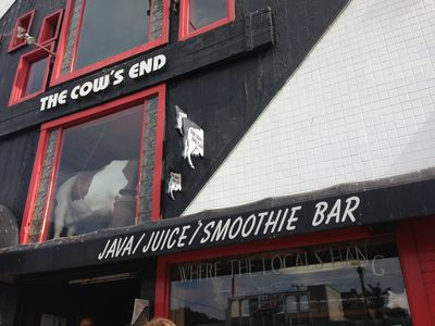 The Cow's End is a short walk great for morning coffee and smoothies