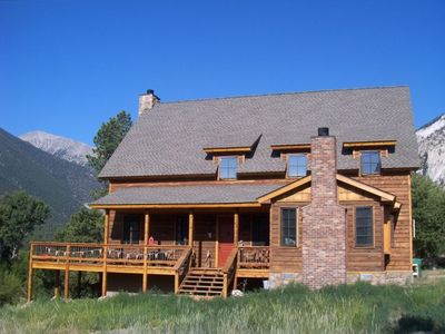 Mt. Ralphmore mountain home - front view in summer