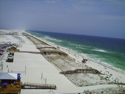View of beach (left)