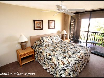 Bedroom from unit 47D Ekahi Village, One Bed-Two Bath, Ocean View