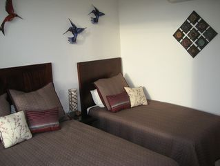 Ixtapa condo photo - Bedroom #3 with 1 queen and 1 twin beds and TV w/DVD