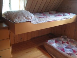 Saint-Sauveur cabin photo - View of the lake and the woods from your bed