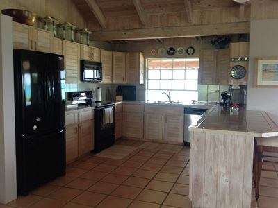 Green Turtle Cay house rental - Kitchen complete with great water view and all conveniences of home.