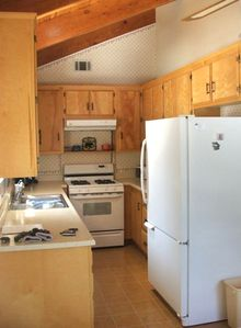 Galley kitchen, with lake view makes meal preparation enjoyable!