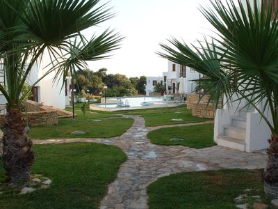 Agia Paraskevi house rental - Communal gardens and pool