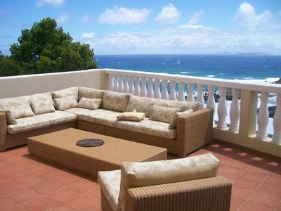 Great view and very comfortable outdoor furniture on the largest deck in PH.