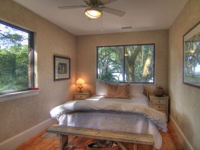 Master Bedroom with waterfront view of St. Helena Sound