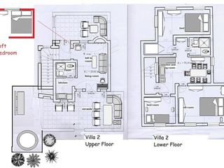Oia villa photo - This plan of the villa will help you for understanding all its unique benefits.