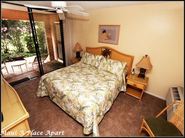 Bedroom from unit 21A Ekahi Village, One Bed-Two Bath, Partial Ocean View