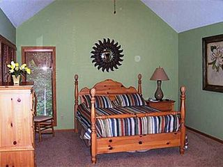 Galena house photo - Master Bedroom on the Main Floor has private access to screened in porch