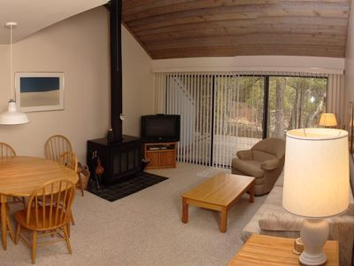 Glen Arbor condo rental - Combined family and dining rooms provide ample conversation areas.