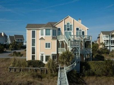 Rear of house with great views of the ocean from the living areas and all bdrms
