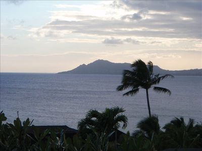 The most amazing view of Diamond Head and the blue ocean from your private deck