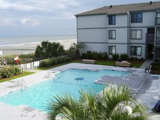 Surfside Beach condo photo - Poolside View from Deck