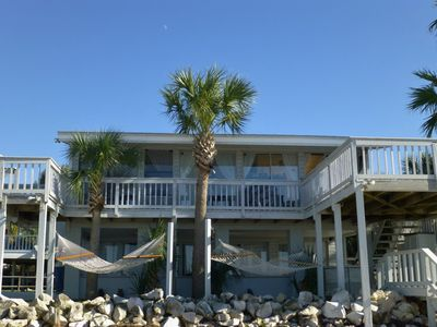 Sandcastle in the Sun invites you to sway in the hammocks & gaze at the gulfview
