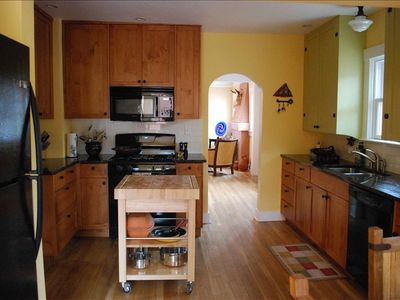 Fully-equipped, spacious, gourmet's kitchen with high-quality cookware.