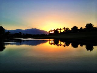 Indian Wells property rental photo - Sunset. Taken from pool patio, July 2012.