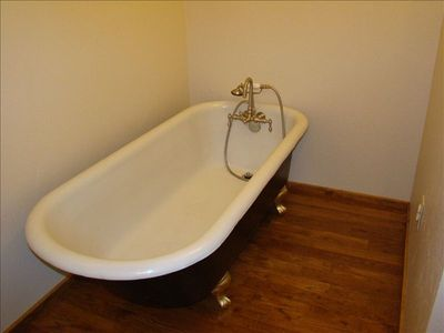 Claw foot tub in Master Bathroom