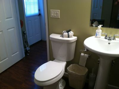 All three bathrooms are new. Lower level equipped for limited mobility guests.