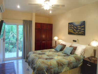 Spacious Bedrooms, A/C, flatscreen, comfortable beds,closets, private balcony.