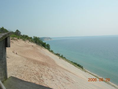 The Sleeping Bear Dunes are just a short ride away.