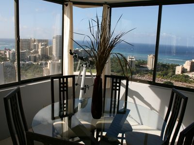 Dining Room in Heaven with Panoramic Views. Extraordinary & Romantic.