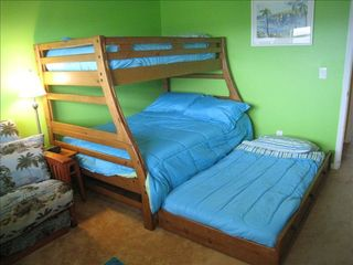 Ormond Beach condo photo - Bunk bed has a hidden twin trundle.