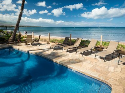 10 seconds away from your lanai...our oceanfront Pool