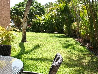 Kihei condo rental - The garden view from the lanai